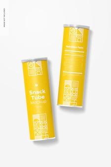124g snack tube mockup, draufsicht