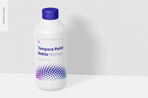 16 unzen tempera paint bottle mockup