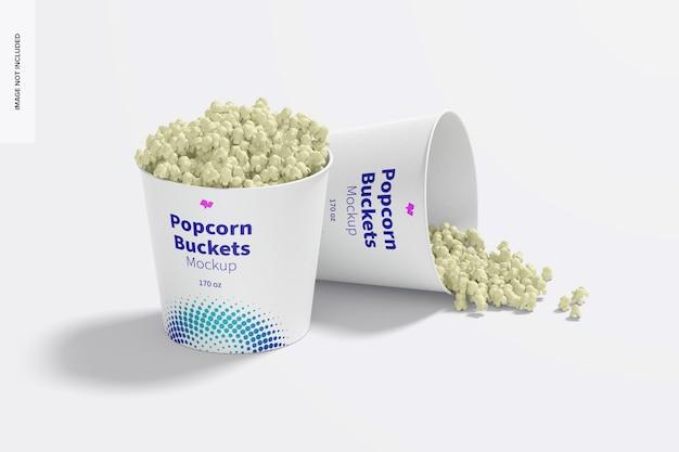 170 oz popcorn buckets mockup, ansicht von links
