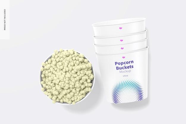 170 unzen popcorn eimer modell, draufsicht