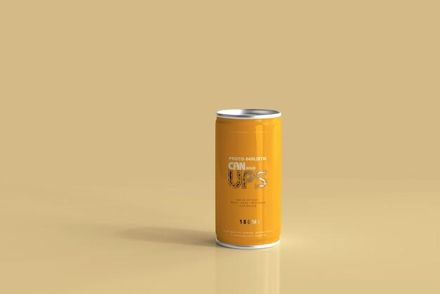 180ml aluminiumdose mockup isoliert