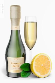 187 ml prosecco-flaschenmodell, vorderansicht
