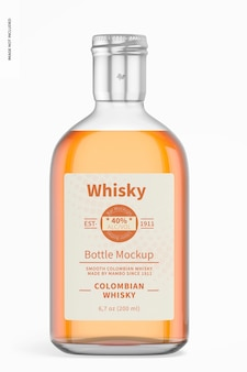 200 ml whiskyflaschenmodell, vorderansicht