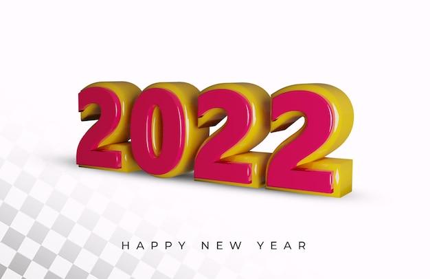 2021 neues jahr 3d-render-alphabet-texteffekt