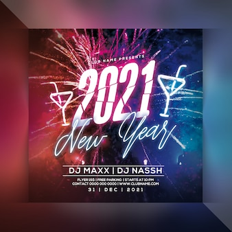 2021 neujahrsfeier party flyer