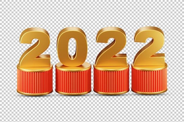 2022 3d-darstellung alpha-hintergrund hochauflösende premium-psd