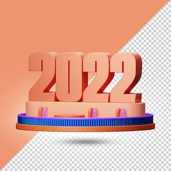 2022 3d-darstellung alpha-hintergrund premium-psd