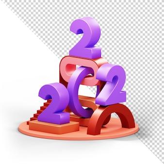 2022 3d-darstellung alpha-hintergrund psd