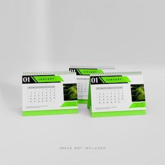 2022 3d tischkalender mockup design