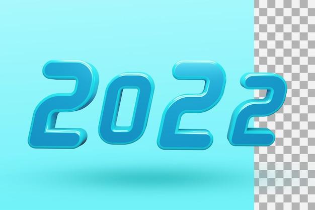 2022 frohes neues jahr 3d-texteffekt