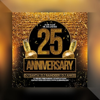25 jahre party flyer