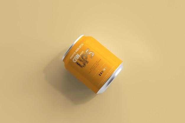 250ml aluminiumdose mockup isoliert