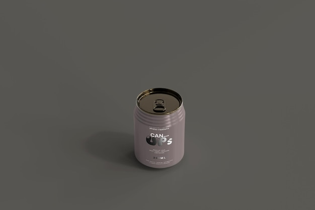 250ml stubby soda can mockup
