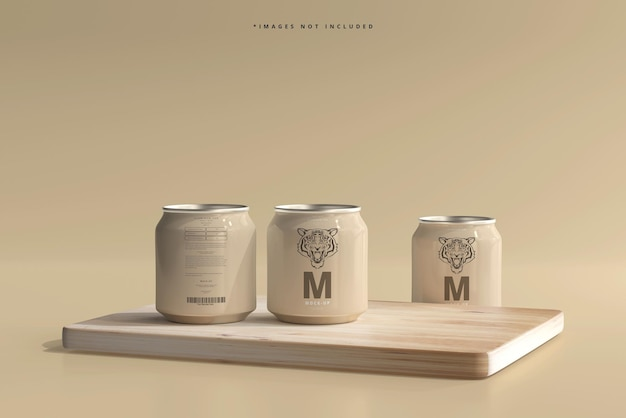 250ml stubby soda oder beer can mockup