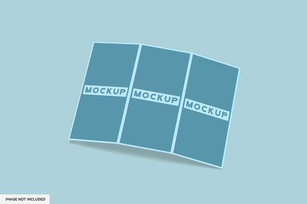 3-faches broschürenmodell isoliert