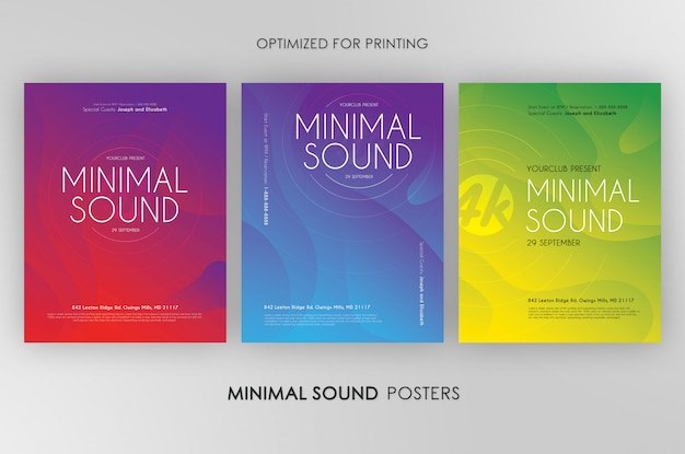 3 minimal sound flyers bundle