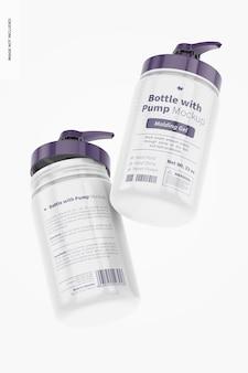 32 oz flasche mit pumpenmodell, schwimmend