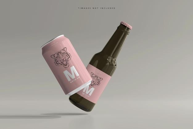 330 ml mittelgroßes soda oder bierdose und flaschenmodell