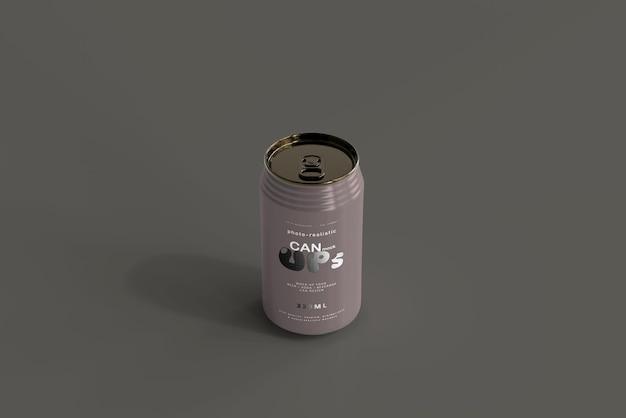 330ml standard soda can mockup