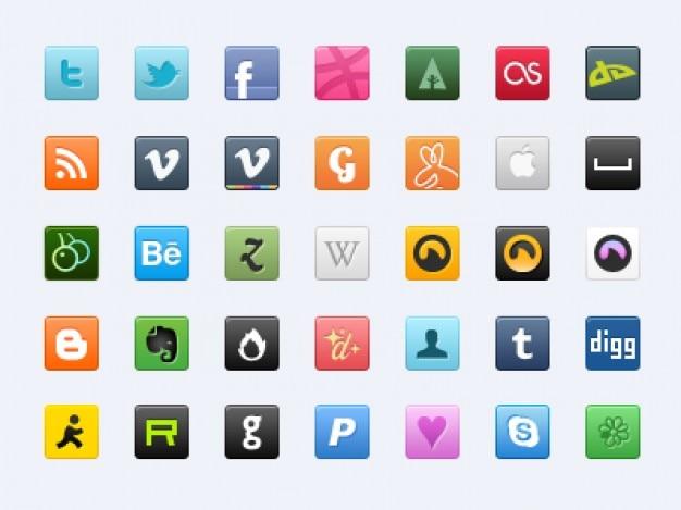 35 süße sozialen symbole