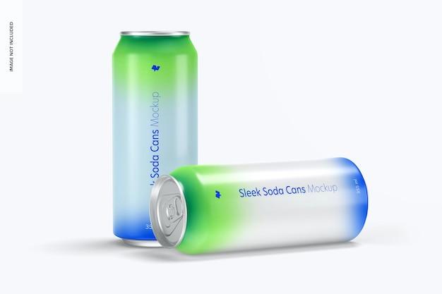 355 ml soda cans mockup, fallen gelassen