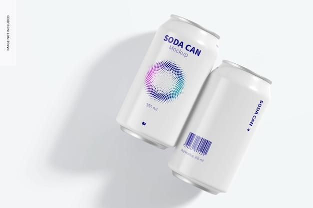 355 ml soda dosen modell, draufsicht