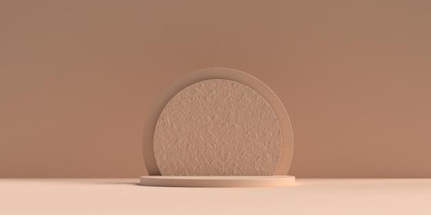 3d abstrakte szene geometrie form podium
