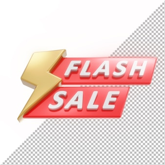 3d badge flash sale isoliert