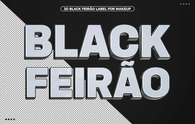 3d black feirao label für kompositionen in brasilien