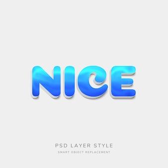 3d blue text style-effekt