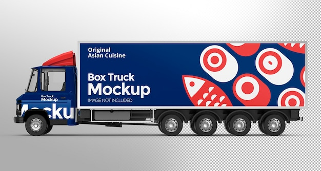 3d box truck modell design