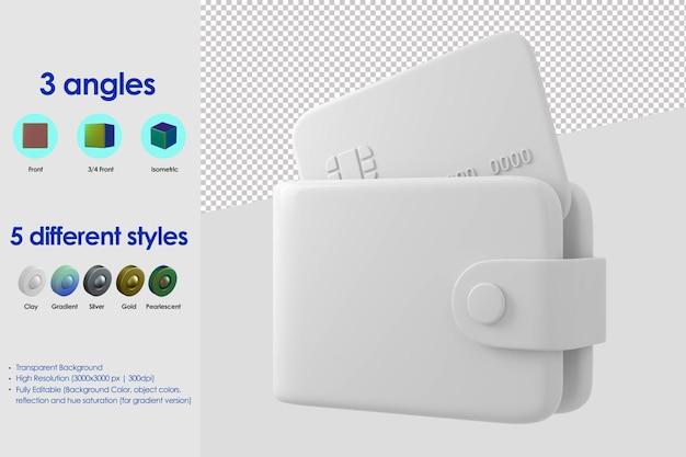 3d-brieftaschensymbol