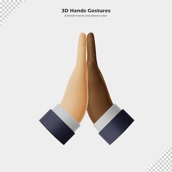 3d-cartoon-handgesten-3d-rendering