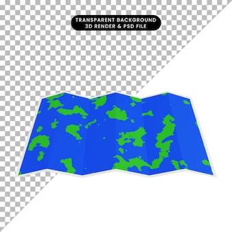 3d-darstellung der einfachen objektkarte