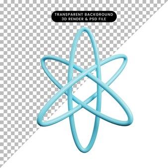 3d-darstellung der einfachen symbolphysik