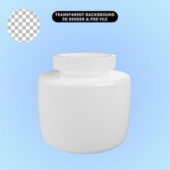 3d-darstellung der keramikvase