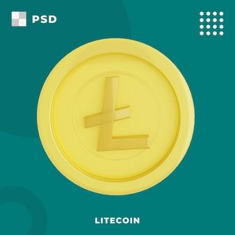 3d-darstellung der lite-münze