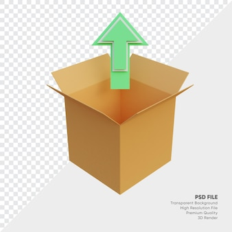 3d-darstellung der upload-box