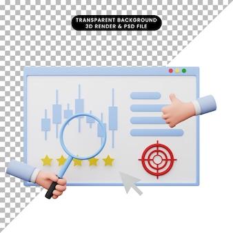 3d-darstellung des datenanalyseberichts