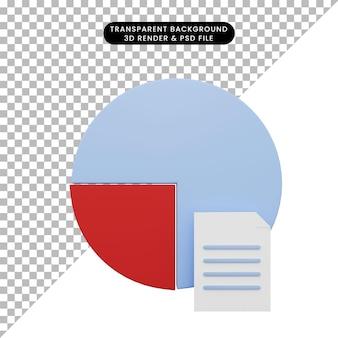 3d-darstellung des datendiagrammberichts mit buchstaben