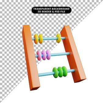 3d-darstellung des einfachen objektabakus