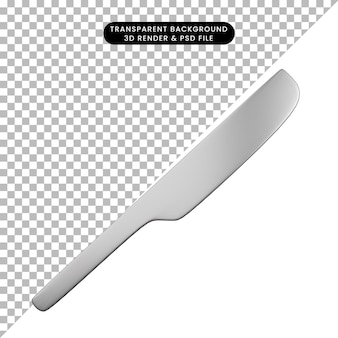 3d-darstellung des einfachen objektrasierers
