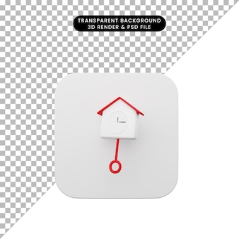 3d-darstellung des einfachen symbols der elementbenutzeroberfläche ui