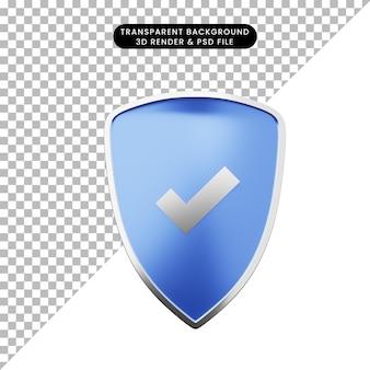 3d-darstellung des einfachen symbolschutzes