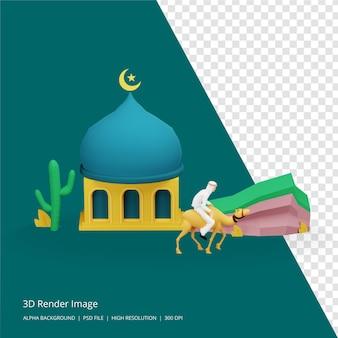 3d-darstellung des islamischen konzepts