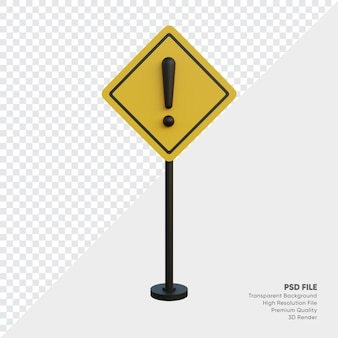 3d-darstellung des verkehrszeichens