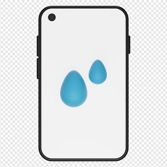 3d-darstellung des wasserfesten telefonsymbols psd