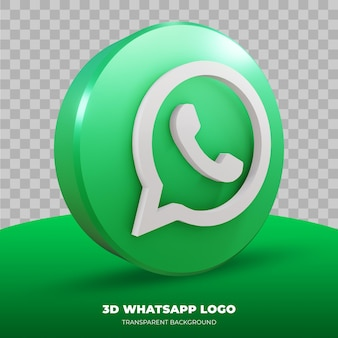 3d-darstellung des whatsapp-logos isoliert