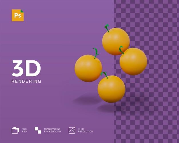 3d-darstellung orangenfrucht