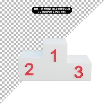 3d-darstellung siegerpodest 1. 2. 3. 3